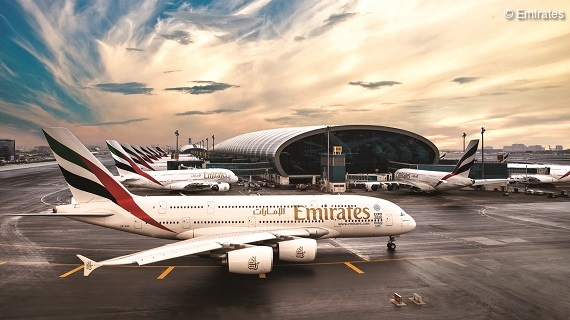 Emirates Drehkreuz Dubai International Airport