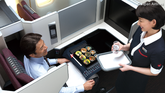 5-Sterne-Service an Bord von Japan Airlines